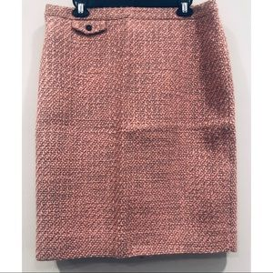NWT J. Crew Pink Tweed Pencil Skirt